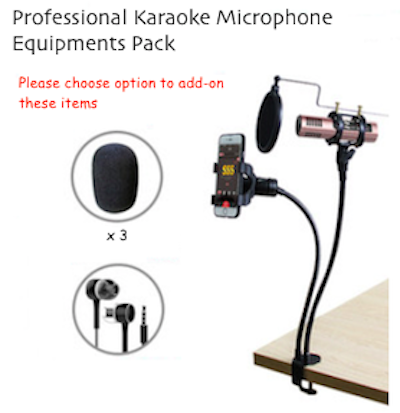CARISE Professional Karaoke Microphone for Mobile Phone
